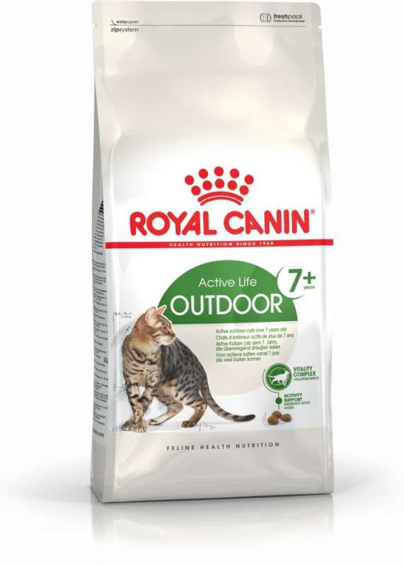Royal Canin Feline Health Nutrition Active Life Outdoor 7+ 10 kg, 2 kg, 4 kg, 400 g kjøp billig med rabatt