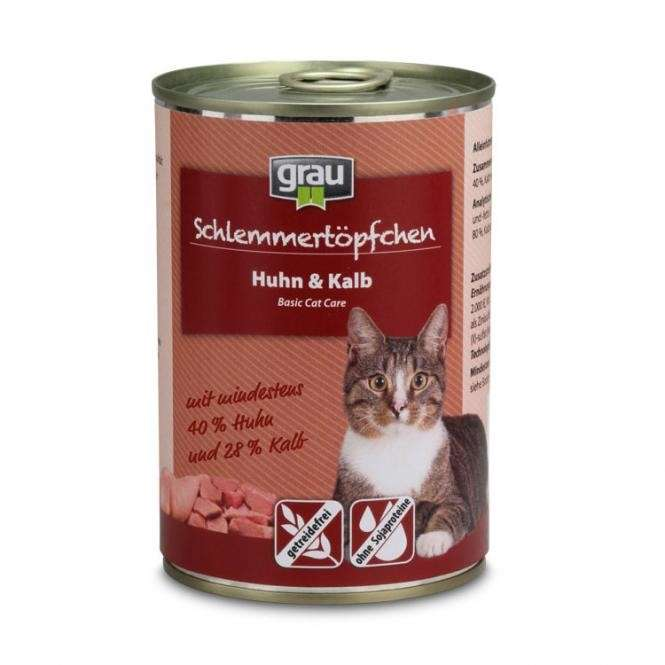 Grau Basic Cat Care Gourmet - Chicken & Veal 400 g