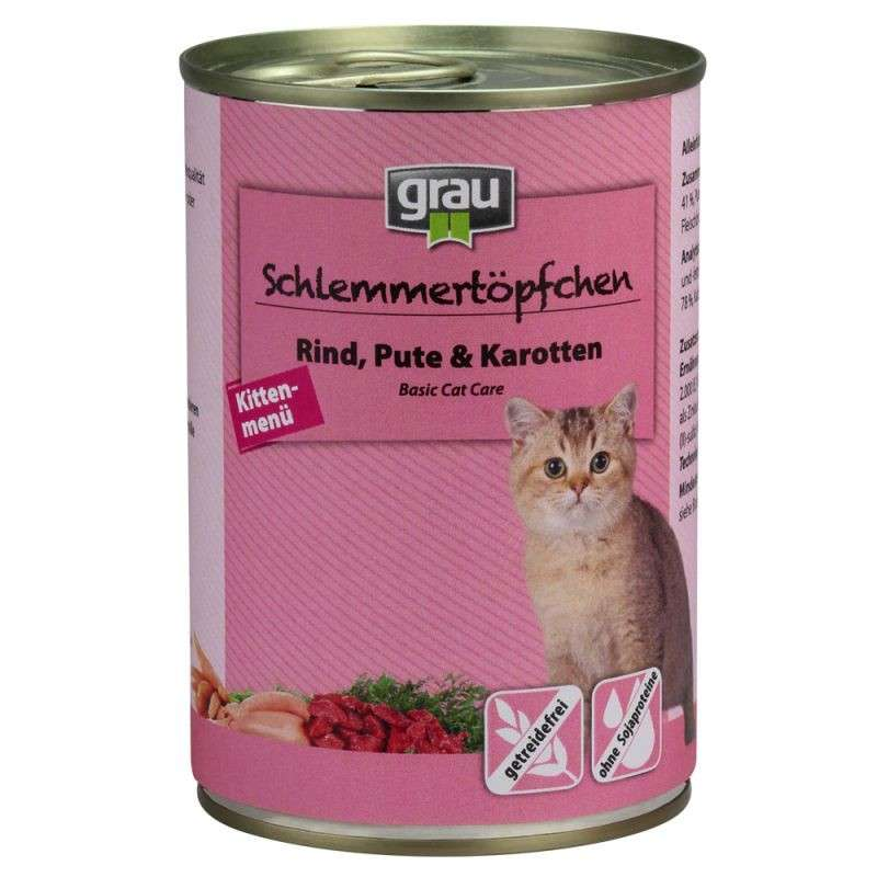 Grau Basic Cat Care Gourmet Kitten - Beef, Turkey & Carrots