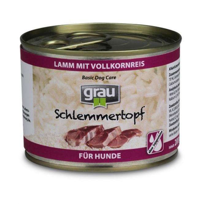 Grau Basic Dog Care Gourmet - Lamb & Wholegrain Rice 800 g, 400 g, 200 g osta edullisesti