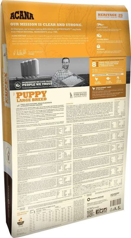 Acana Heritage Puppy Large Breed 17 kg, 11.4 kg test