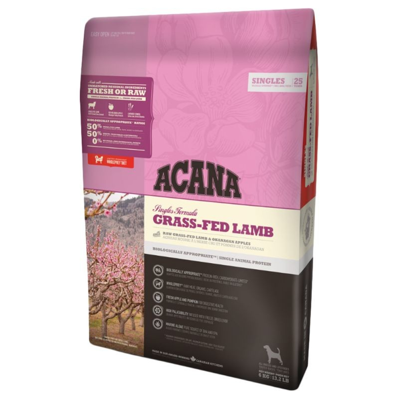 Singles Grass-Fed Lamb from Acana 11.4 kg, 17 kg, 2 kg, 340 g buy online