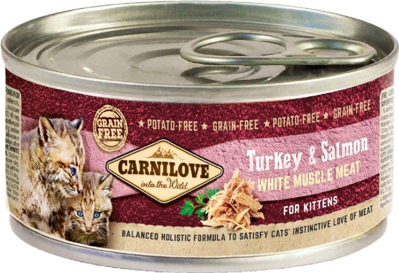Carnilove White Muscle Meat for Kittens with Salmon & Turkey 100 g