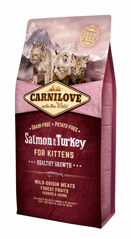 Carnilove Healthy Growth for Kittens Salmón & Pavo 6 kg, 400 g, 2 kg