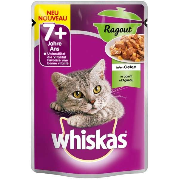 Whiskas 7+ Ragout mit Lamm in Gelee 85 g Test