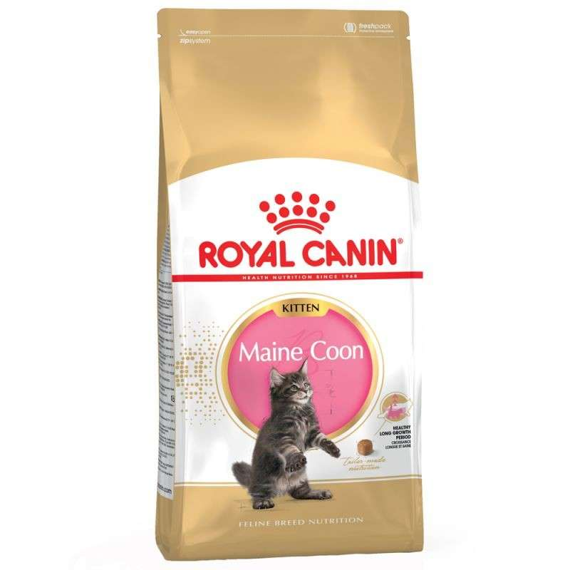 Royal Canin Feline Breed Nutrition Kitten Maine Coon 10 kg, 4 kg, 400 g kjøp billig med rabatt