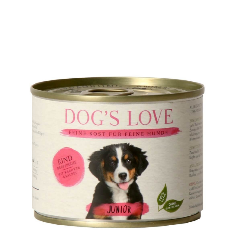 Dog's Love Junior Rind 400 g, 200 g Test und Raiting
