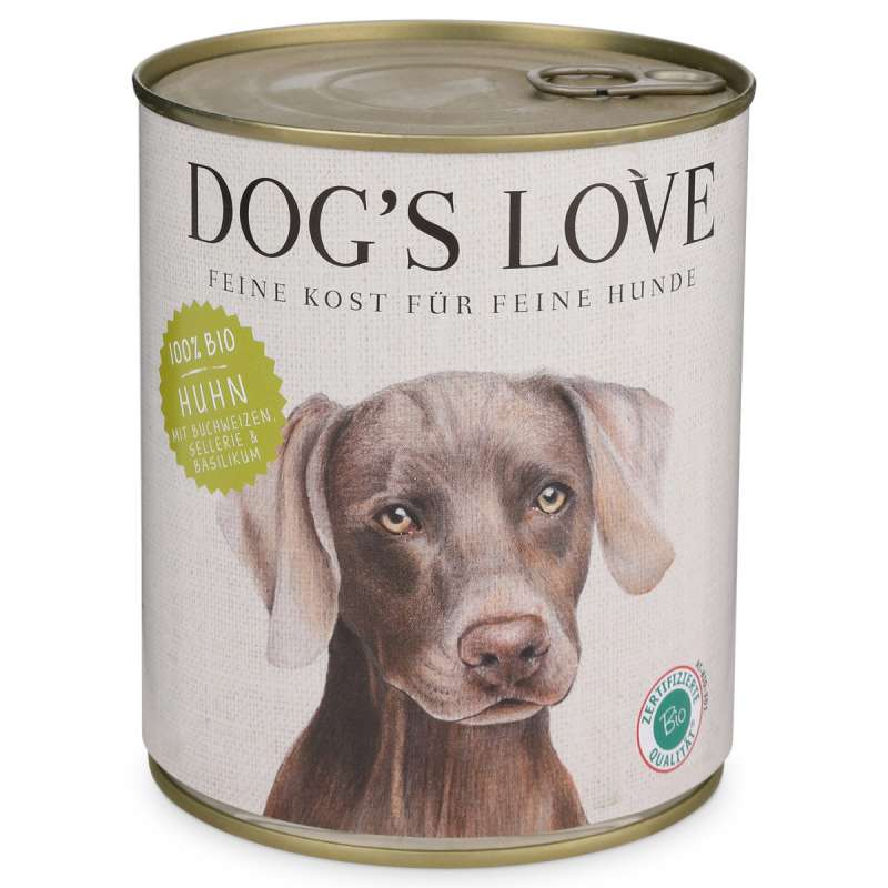 Dog's Love Bio Pollo, senza cereali 200 g, 400 g, 800 g