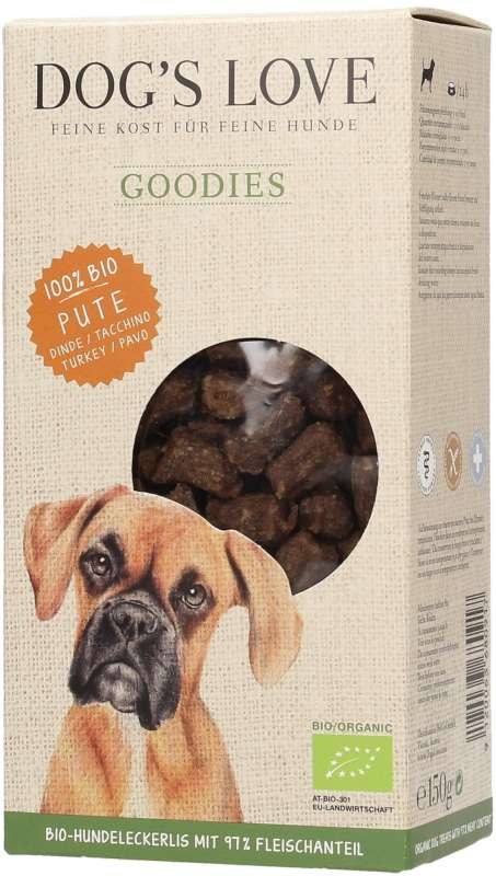 Dog's Love Goodies Dinde Bio 150 g 9120063680917