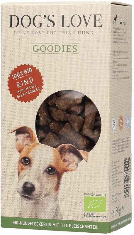 Dog's Love Goodies Bio Rind 150 g