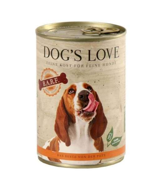 Dog's Love B.A.R.F. Pute Pur 400 g