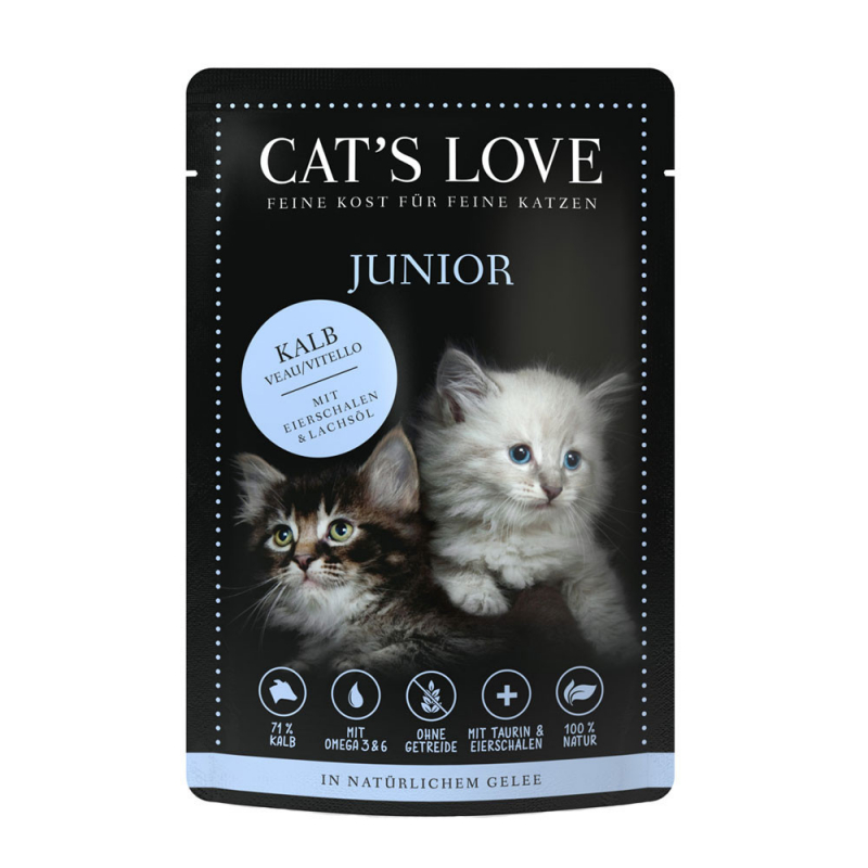 Cat's Love Junior Kalb Pur Gewicht 85 g