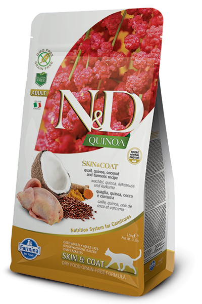 Farmina N&D Quinoa Skin & Coat Quail Adult 1.5 kg