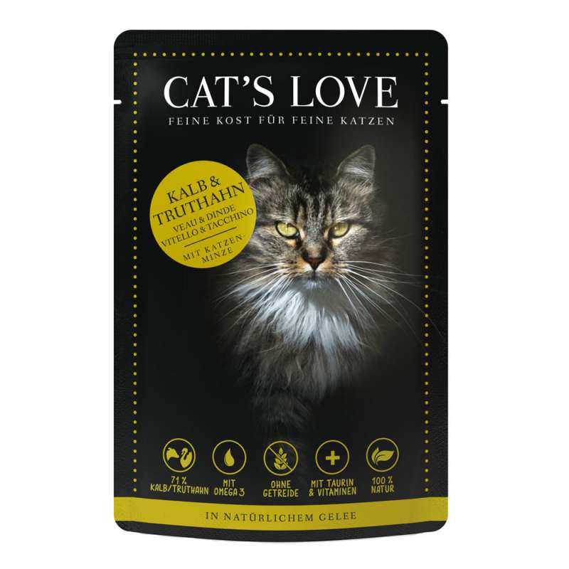 Cat's Love Mix Kalb und Truthahn 85 g 9120063680993
