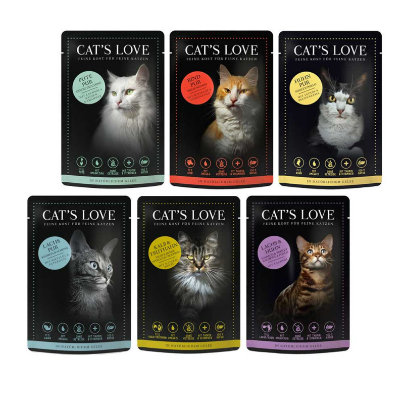 Cat's Love Multipack Adult 12x85 g 9120063681259