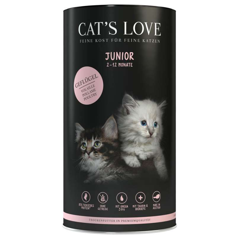 Cat's Love Junior Poultry 400 g, 1 kg