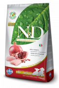 N&D Grain-Free Puppy Mini & Medium Poulet et Grenade 800 g