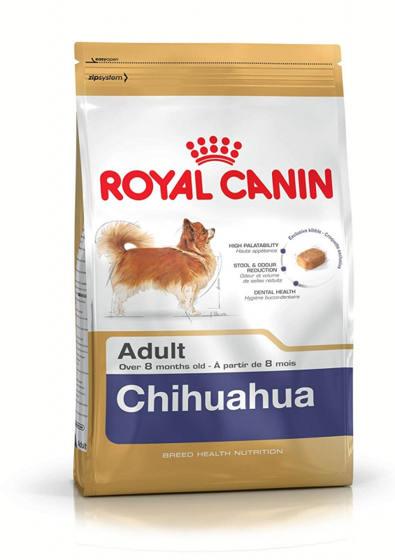 Royal Canin Breed Health Nutrition Chihuahua Adult 500 g, 3 kg, 1.5 kg osta edullisesti