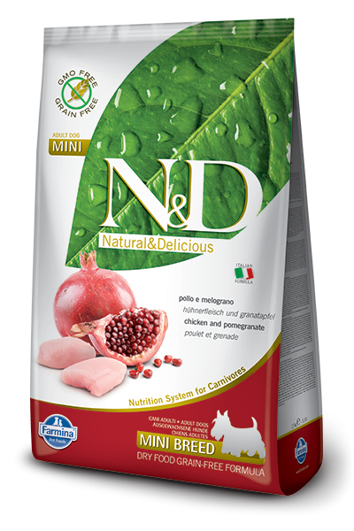Farmina N&D Grain-Free Chicken & Pomegranate Adult Mini 2.5 kg