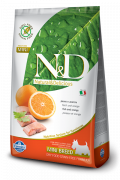 Farmina N&D Grain-Free Adult Mini com Peixe e Laranja 800 g