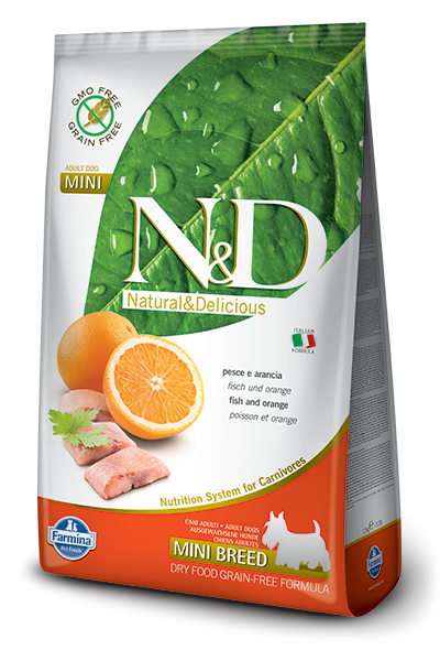 Farmina N&D Grain-Free Adult Mini con Pescado y Naranja 2.5 kg 8010276021809 opiniones