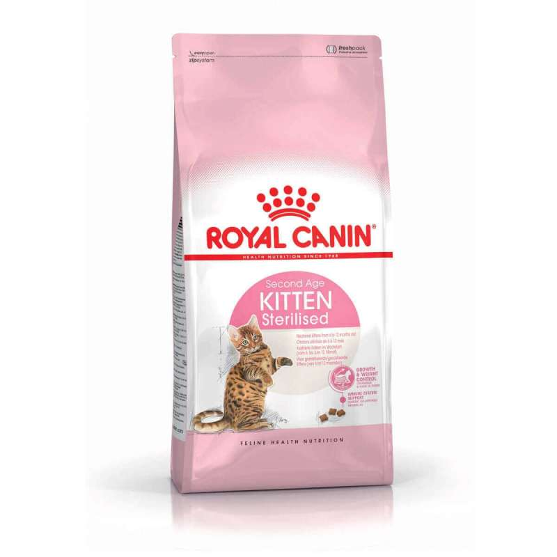 Royal Canin Feline Health Nutrition Kitten Sterilised 2 kg 3182550805186 erfaringer