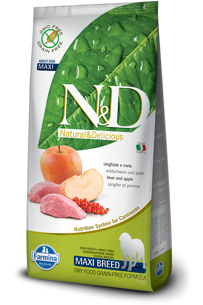 Farmina N&D Grain-Free Boar & Apple Adult Maxi 12 kg