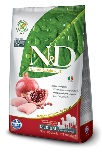 Farmina N&D Grain-Free Chicken & Pomegranate Adult Medium 2.5 kg