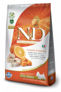 N&D Pumpkin Codfish & Orange Adult Mini Farmina 2.5 kg, 7 kg, 800 g