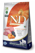 N&D Pumpkin Lamb & Blueberry Adult Medium & Maxi 2.5 kg, 12 kg