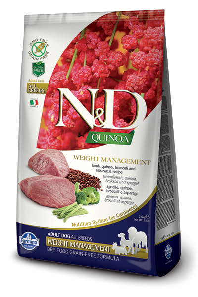 Farmina N&D Quinoa Weight Management Lamb 800 g, 7 kg, 2.5 kg osta edullisesti