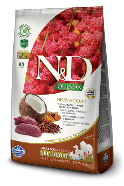 Farmina N&D Quinoa Skin & Coat con Cervo 2.5 kg