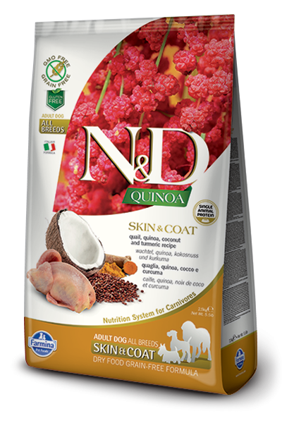 Farmina N&D Quinoa Skin & Coat Codorniz 2.5 kg