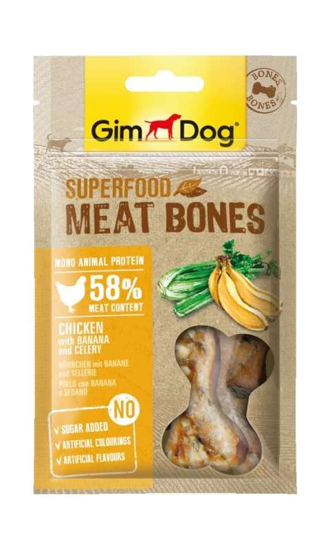 GimDog Superfood Meat Bones Huhn mit Banane und Sellerie 4002064514857