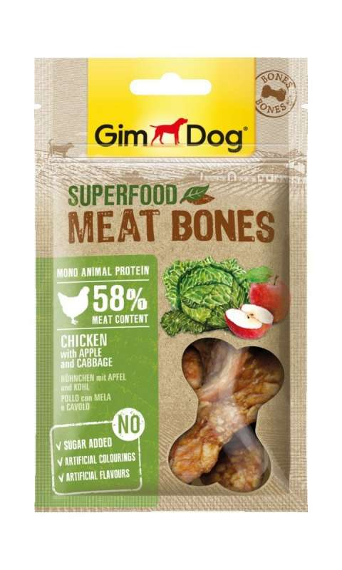 GimDog Superfood Meat Bones Chicken with Apple and Cabbage 70 g 4002064514840