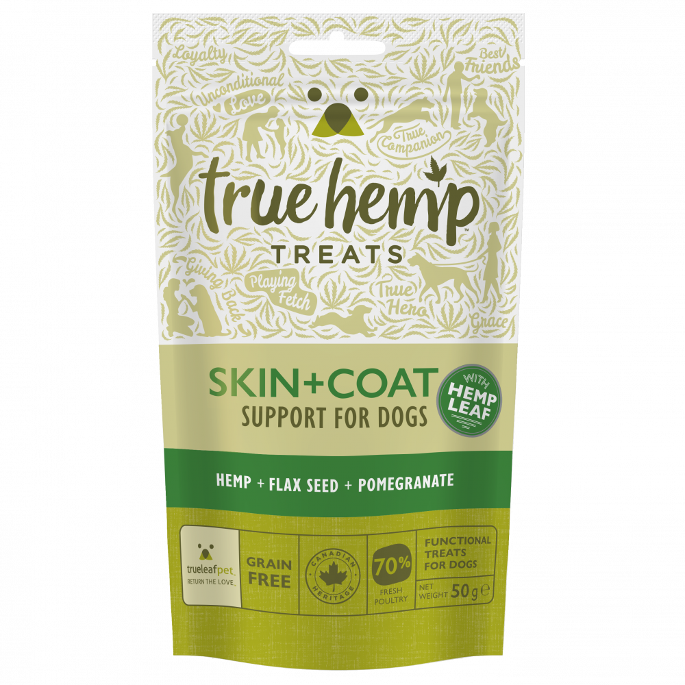 True Hemp Skin + Coat Treats 50 g kjøp billig med rabatt