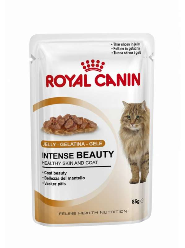 Royal Canin Feline Health Nutrition Intense Beauty i Gelé 85 g kjøp billig med rabatt