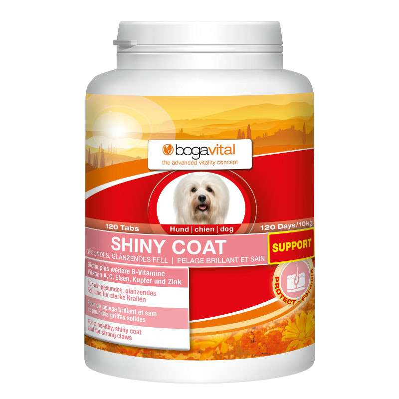 Bogacare Shiny Coat Support 180  g kjøp billig med rabatt