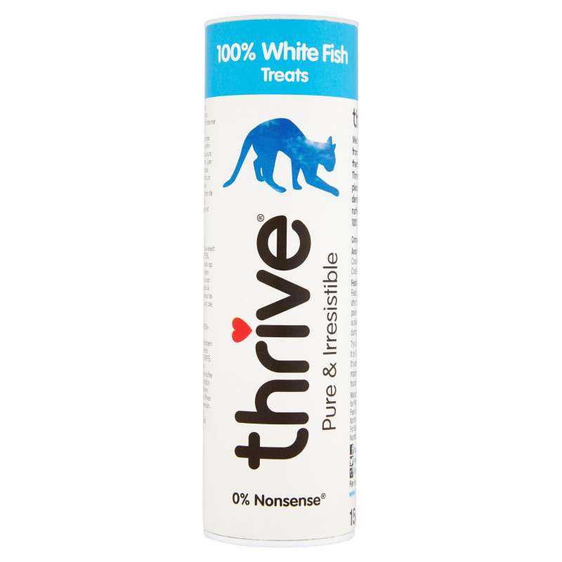 thrive Cat Treats 100% White Fish 15 g 5023538101471 ervaringen