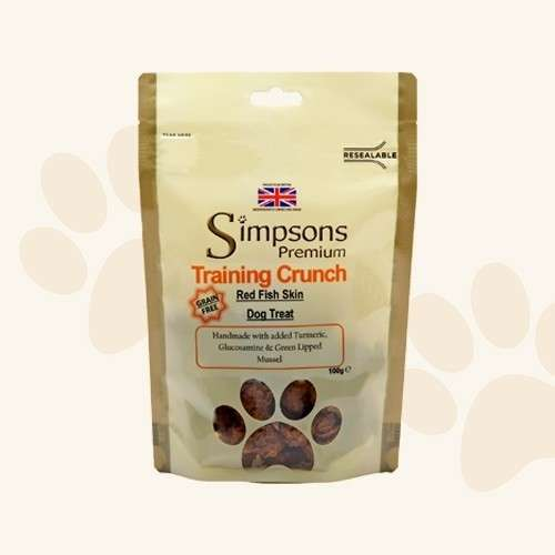 Simpsons Premium Training Crunch Rotfischhaut 100 g bei Zoobio.at
