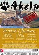 Frozen Raw Complete Working Dog Food Chicken 500 g