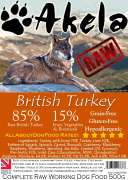 Frozen Raw Complete Working Dog Food Turkey 500 g