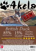 Frozen Raw Complete Working Dog Food Duck 500 g