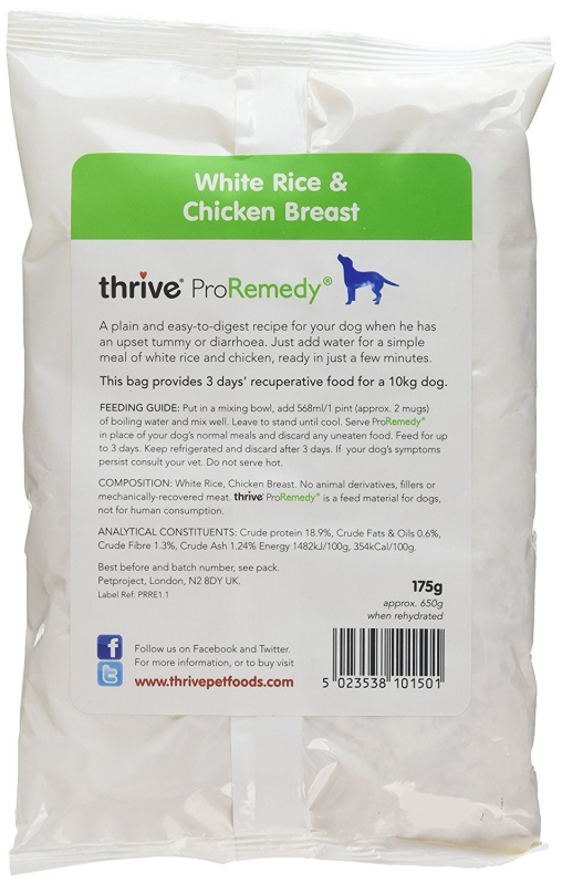 thrive ProRemedy Recuperative Food com Frango e Arroz 175 g