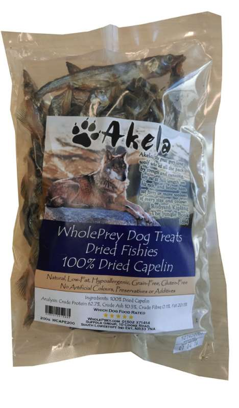 Akela WholePrey Dried Fishes 200 g 5060315015866 ervaringen