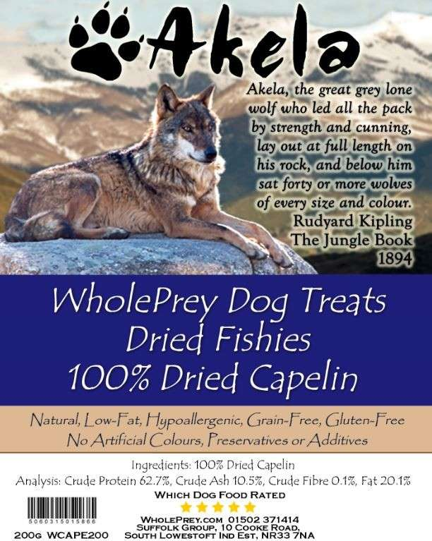 Akela WholePrey Dried Fishes 200 g