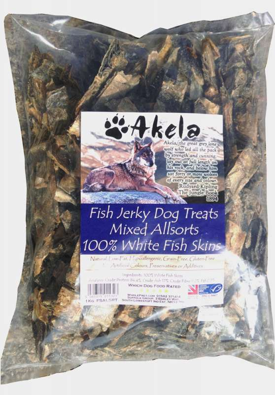 Akela Jerky Mixed Allsorts White Fish 1 kg 5060315015323
