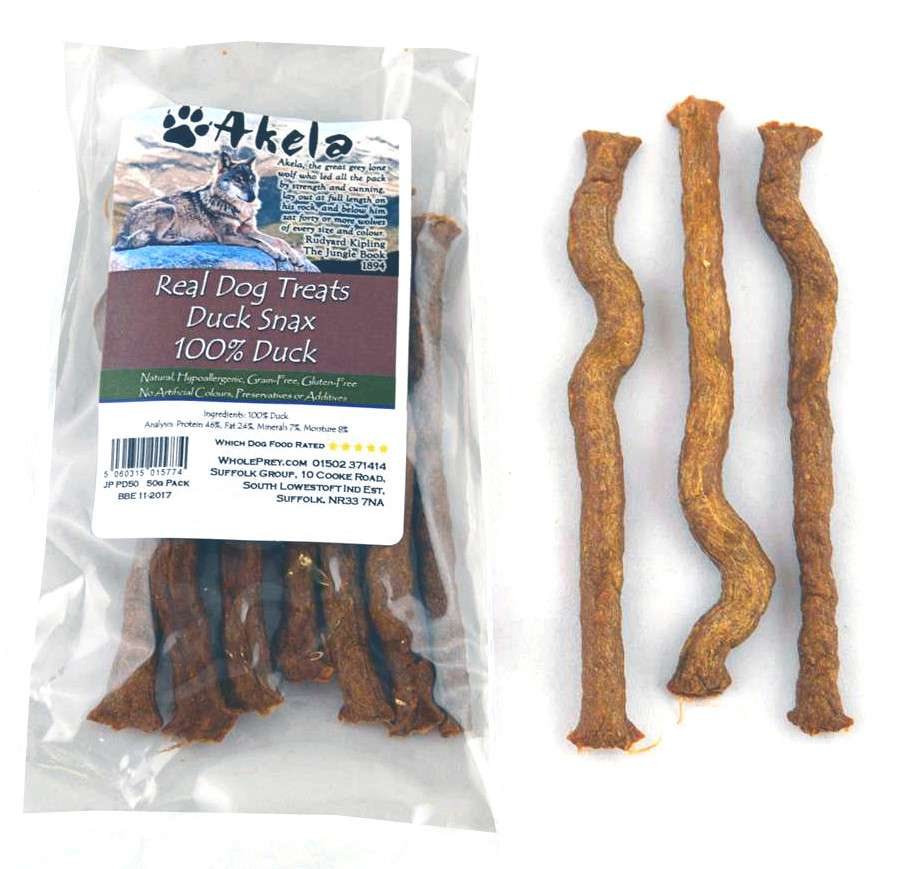 Akela Real Dog Treats Snax mit Ente 5060315015774