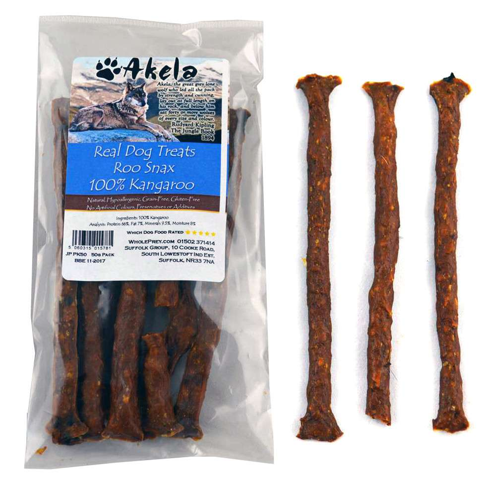 Akela Real Dog Treats Snax con Canguro 50 g