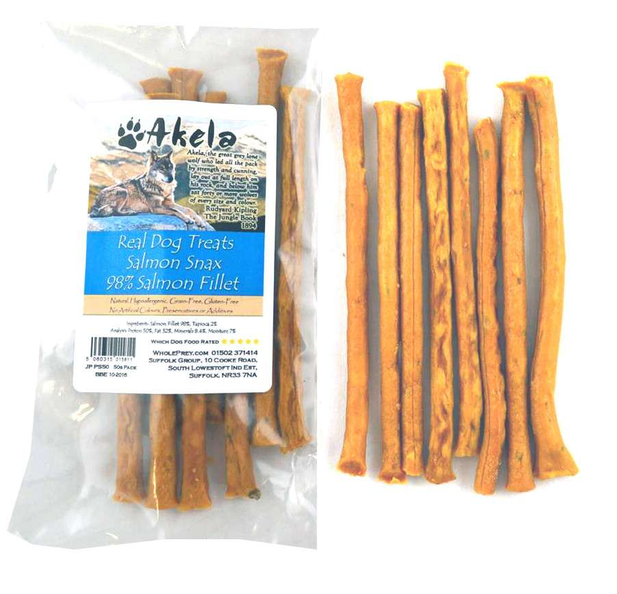 Akela Real Dog Treats Snax with Salmon EAN: 5060315015781 reviews